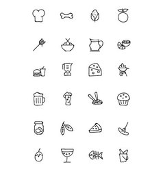 Food hand drawn outline icons 5 vector