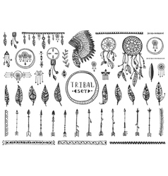 Big tribal elements collection vector
