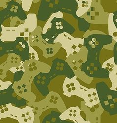 Military texture from gaming joysticks army vector