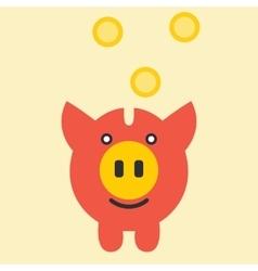 Piggy bank savings vector