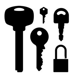 set of keys and lock vector image