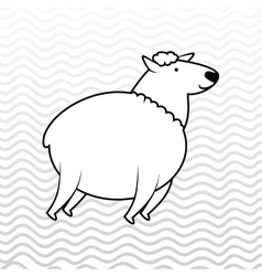 Counting sheep design vector