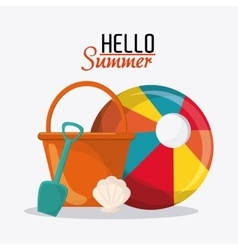 Summer design vacation concept flat vector