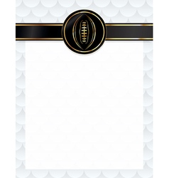 American Football Letterhead Background vector image vector image
