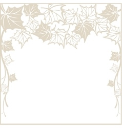 Autumn pattern with maple leaves template for vector