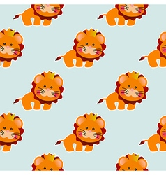 Baby pattern with a cute lion vector image vector image