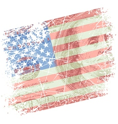 background with flag vector image vector image