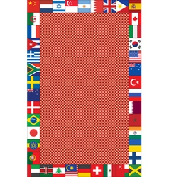 background with frame made of flags vector image vector image