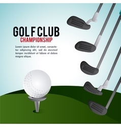 Ball icon golf sport design graphic vector