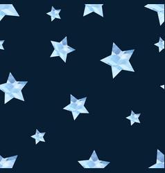 Blue stars on dark background seamless pattern vector