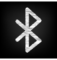 Bluetooth sign scribble effect vector