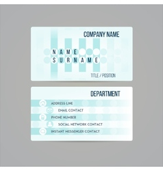 Business card template made in subtle teal circled vector image vector image