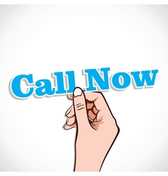 Call now word in hand vector