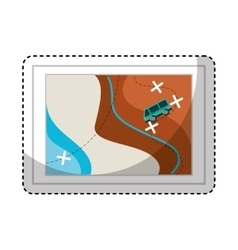 camping zone map paper vector image