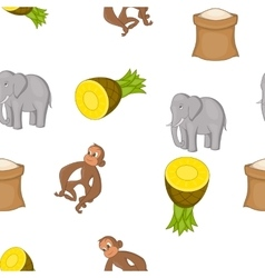 Country Sri Lanka pattern cartoon style vector image