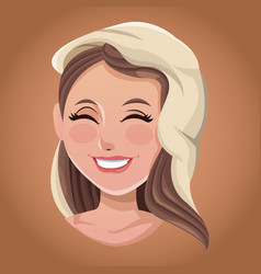 Cute face virgin mary spirituality vector