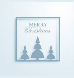 Elegant christmas greeting design with trees vector