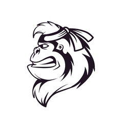 gorilla ninja vector image