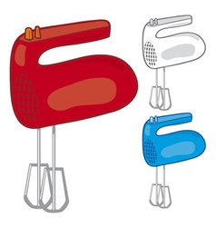 kitchen hand mixer vector image