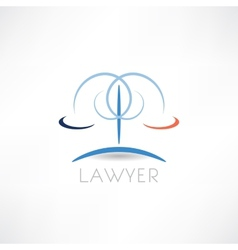 law abstraction icon vector image vector image