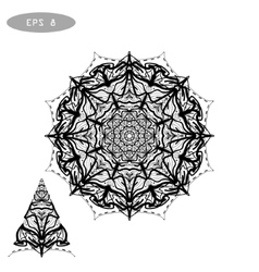 Mandala coloring 1 vector