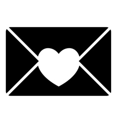 Nice love letter icon simple style vector