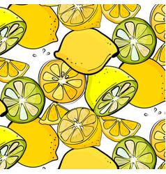 organic lemon graphic fresh slice citrus vector image vector image