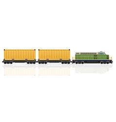 railway train 22 vector image vector image
