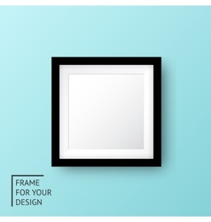Realistic picture frame vector