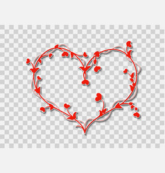 red heart on a transparent background vector image
