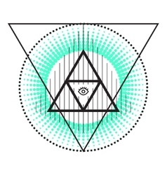 Sacred geometry abstract alchemy symbols vector