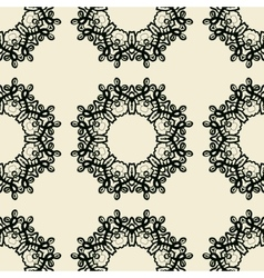 Seamless ornamental print endless lace in indian vector