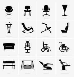Seats and chairs vector