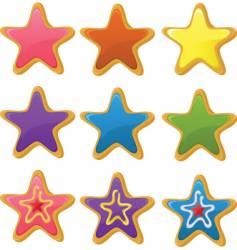 star cookies vector image vector image
