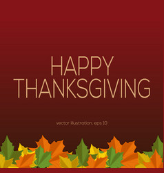 Thanksgiving background with fallen leaves vector