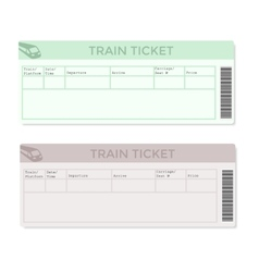 Train Tickets in Two Versions Light Color vector image vector image