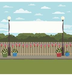 uk park scene vector image