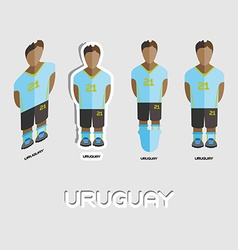 Uruguay soccer team sportswear template vector