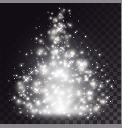 White christmas light special effect vector