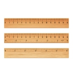 Wooden ruler vector