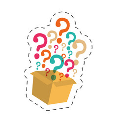 Box question mark image vector