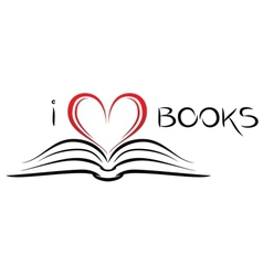 I love books vector image