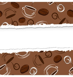 Seamless coffe ripped vector