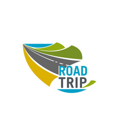 Road trip and car journey icon for travel design vector