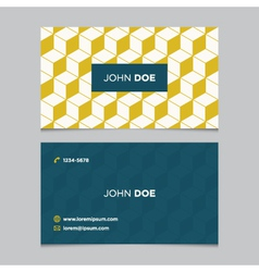 business card pattern yellow 09 vector image