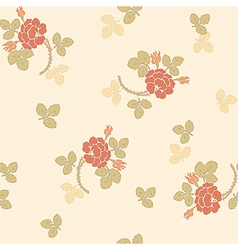 Little rose seamless background vector