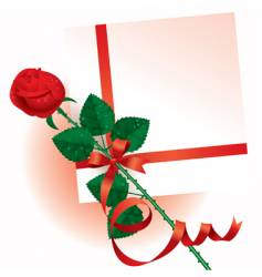 valentine card with a rose vector image