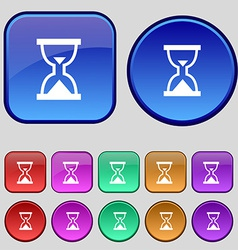 Hourglass sand timer icon sign a set of twelve vector