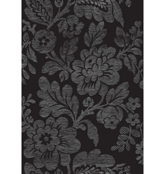 3 Abstract hand-drawn floral seamless pattern vector image