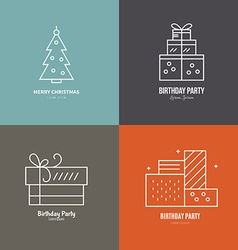 Holiday logos vector